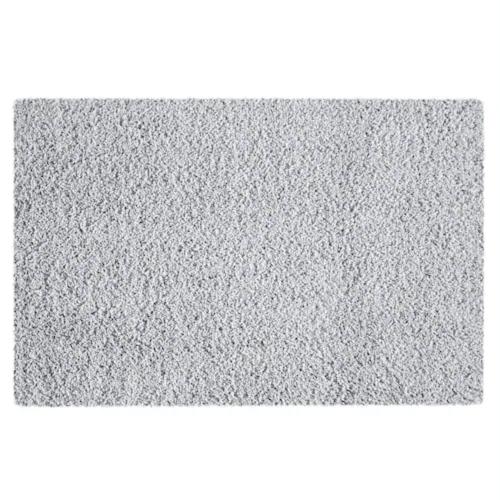 Silver shag rug