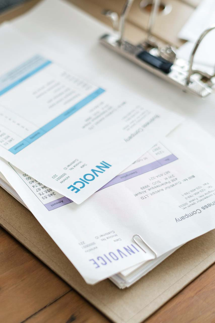Invoice papers