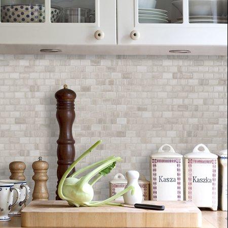 Peel and Stick Self-Adhesive Mosaic Backsplash Wall Tile