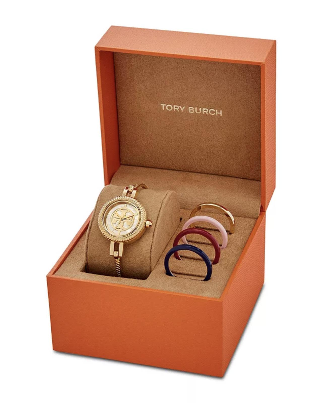 Tory Burch The Reva Bangle Bracelet Watch Gift Set