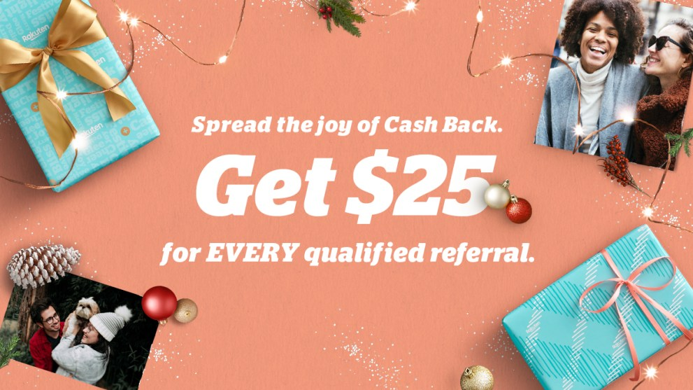 Rack Up Unlimited $25 Bonuses With Rakuten's Refer-A-Friend Program