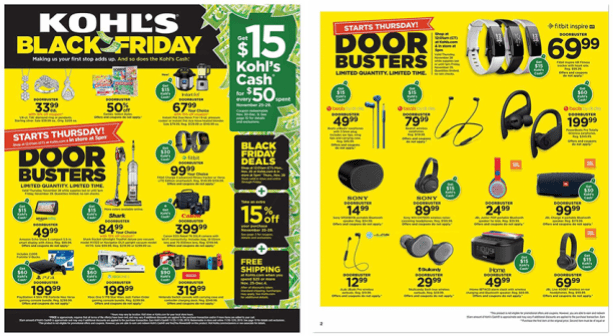 Kohl's Black Friday 2019 ad scan