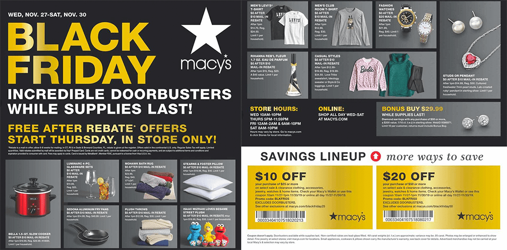 Macy's Black Friday 2019 ad