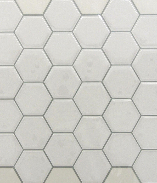White Pearlized Hexagon Peel And Stick Tiles