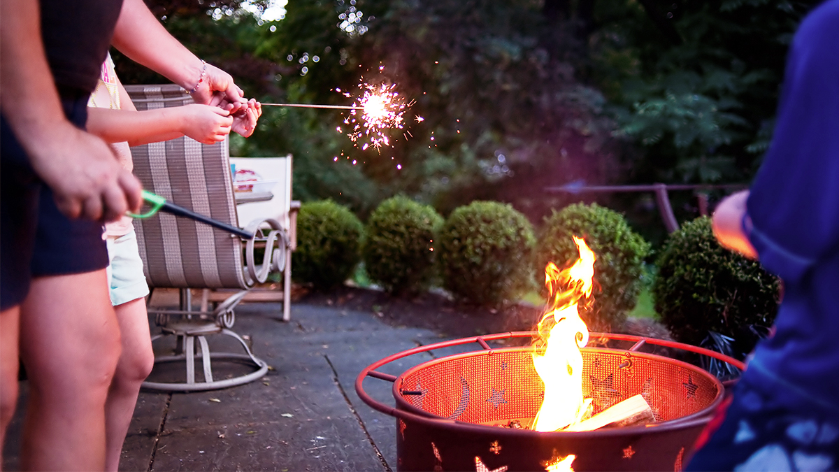 Bonfire with sparklers