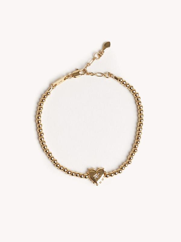 Heart Metal Bead Bracelet