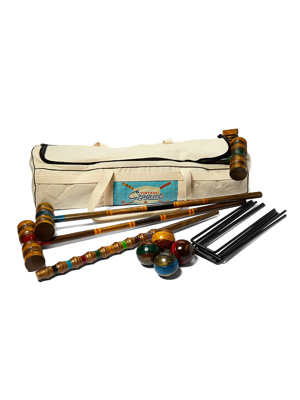 Crown Sporting Goods Wood Croquet Set