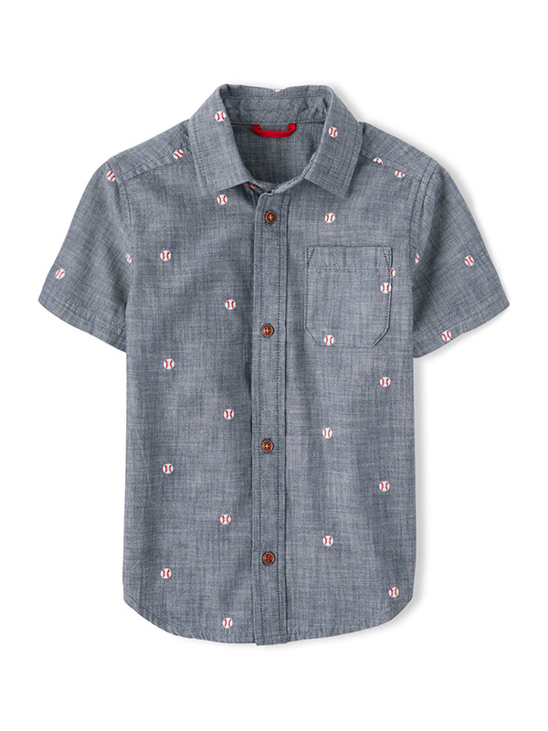 Embroidered Opening Day Button Up Shirt