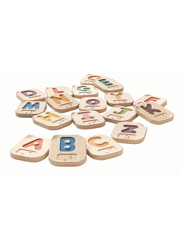 PlanToys® Braille Alphabet Tiles