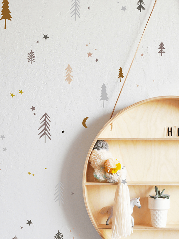 Starry Night Forests Wall Decal Set
