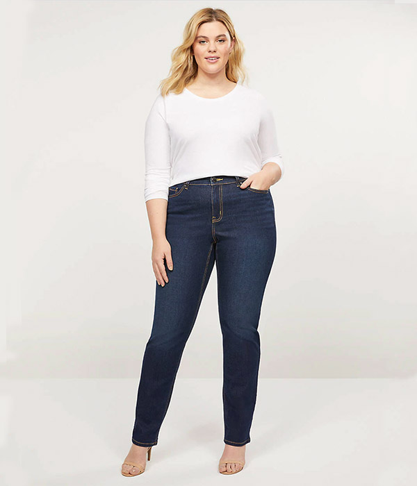 Curvy Fit High-Rise Straight Jean