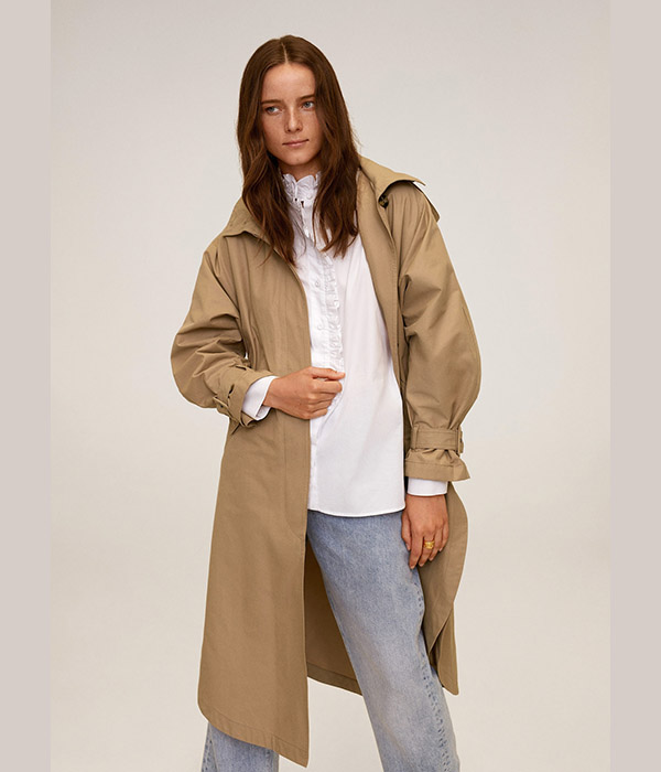 Oversized Cotton Trench