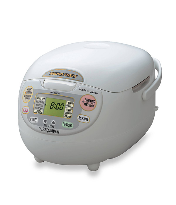 Zojirushi Neuro Premium White Fuzzy Rice Cooker And Warmer