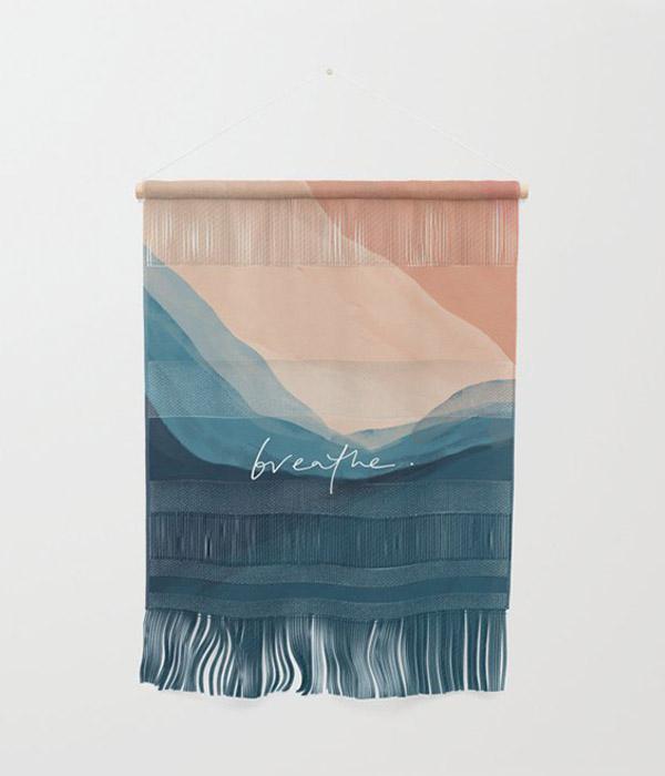 breathe. Wall Hanging by Morgan Harper Nichols