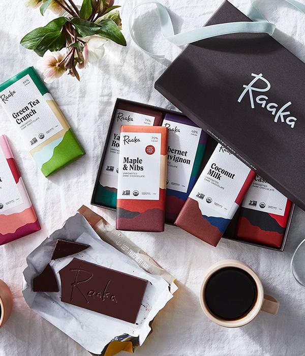 Raaka Chocolate Small-Batch Organic Chocolate Library Gift Box