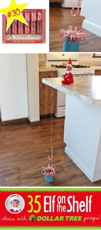 Elf on the shelf candy cane