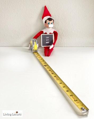 Social distance elf on the shelf