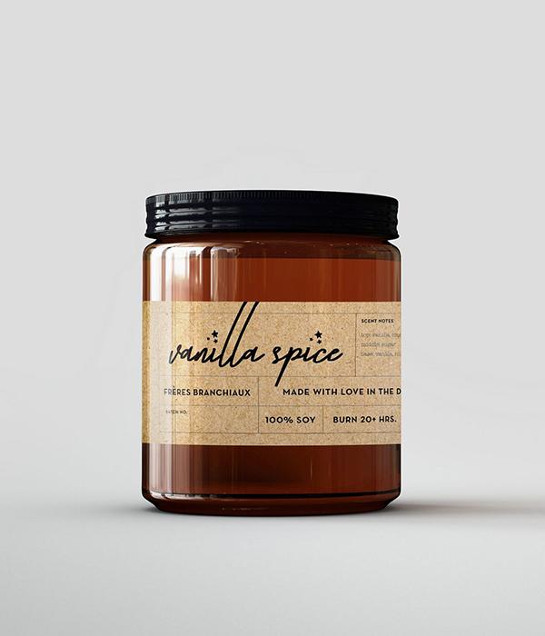 Frerés Branchiaux Candle Co. Vanilla Spice Candle