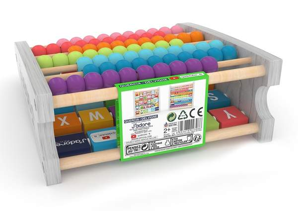 J'adore Wooden 2-in-1 Math Beads and ABC Animal Abacus