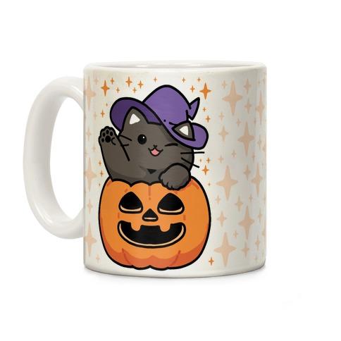 CUTE HALLOWEEN CAT COFFEE MUG