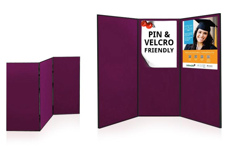 3 large folding exhibition boards each panel 1810 x 923mm