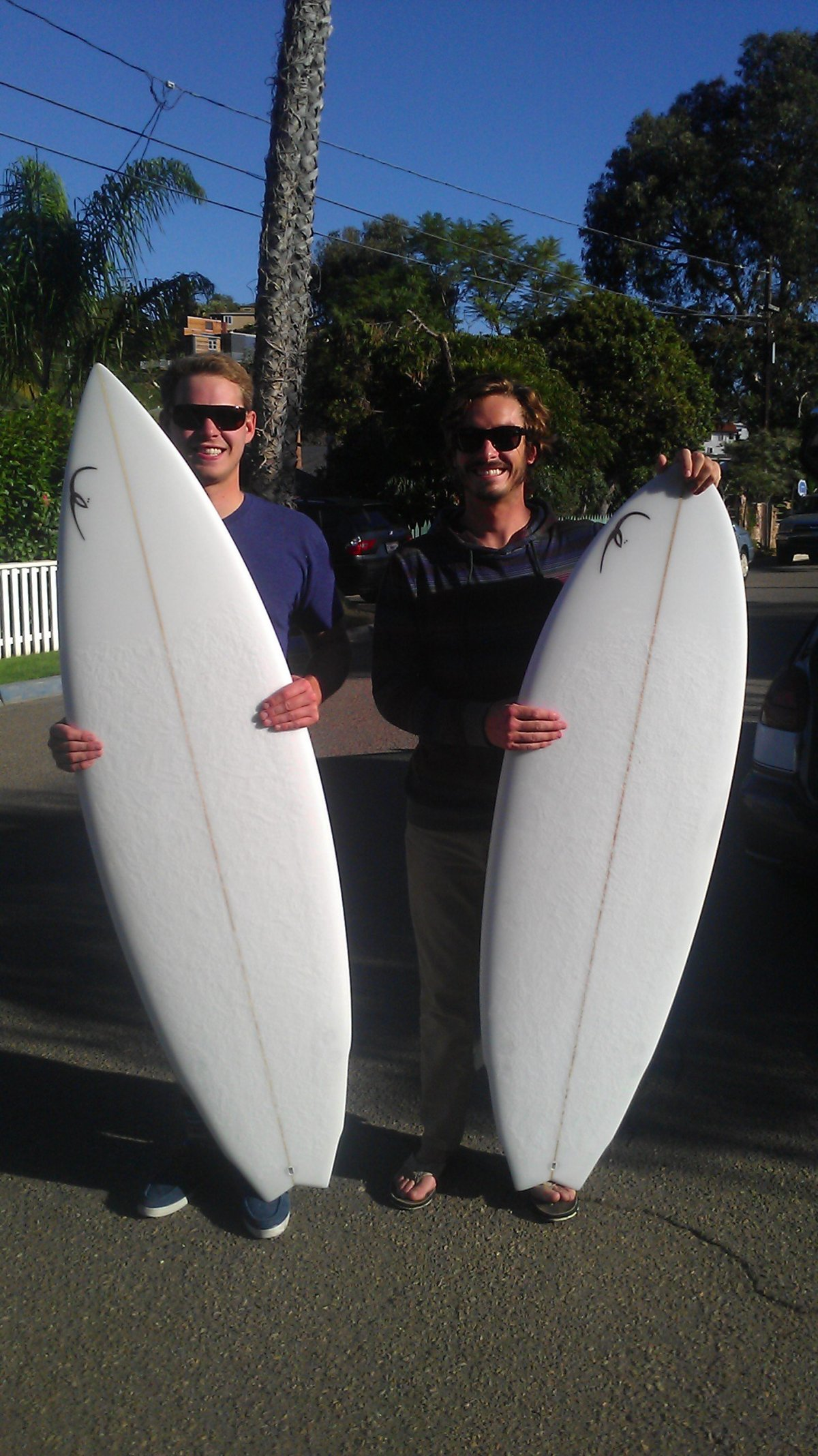 Stanton and Logan with New Siegel Pooh Surfboards