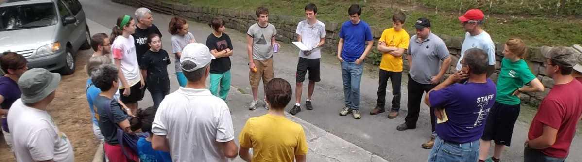 Team devotions on MCC SWAP trip in Elkhorn, WV