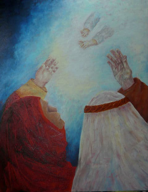 Painting by Luz Frye from December 28, 2014 worship service
