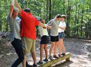 Low ropes course at Intergenerational Retreat, Aug. 2016