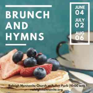 Pancakes with words Brunch & Hymns at Pullen Park, June 4, July 2 and Aug. 6