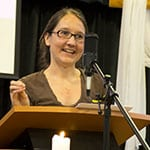Rachel Taylore preaching at RMC July 15, 2018