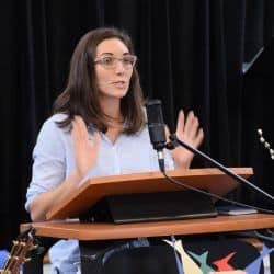 Melissa preaching at RMC Feb. 24, 2019