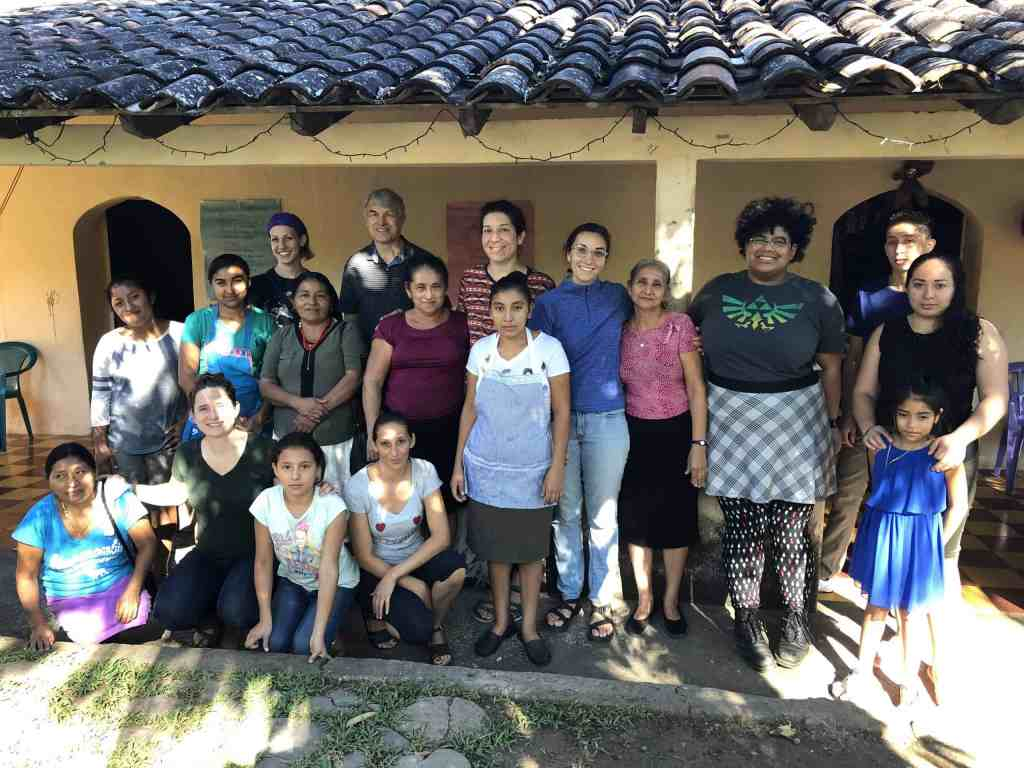 The El Salvador delegation with hosts from the El Rodeo community.