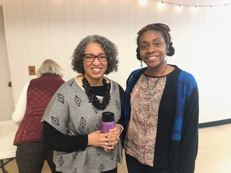 Malinda and RED at the pop-up seminary on Feb. 15, 2020.