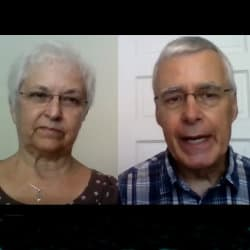 Duane and Lois sharing via Zoom on July 12, 2020
