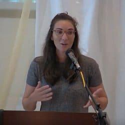 Melissa preaching at Shepherd's Hall on Sept. 26, 2021