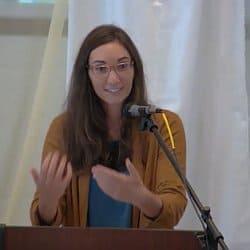 Melissa preaching at CGS, Oct. 3, 2021