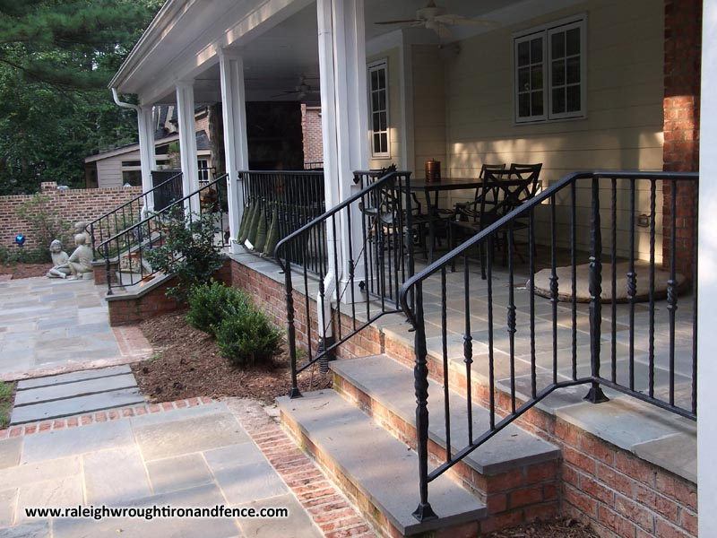 Raleigh NC Wrought Iron Deck Railings