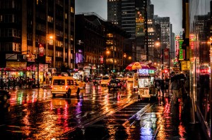 New York Rain in the Night