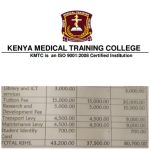KMTC Fee Structure For Regular and Self Sponsored Students