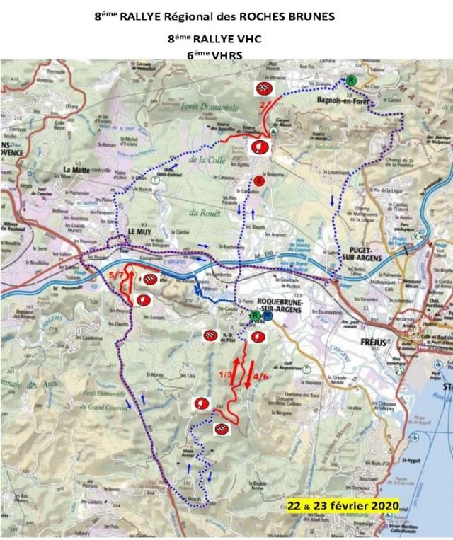 8 ème Rallye Régional des Roches Brunes - Carte des spéciales