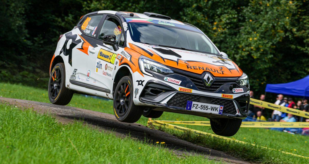 Jean-Baptiste Franceschi et Clio Rally4 ont remporté un troisième succès consécutif sur la scène européenne au Barum Czech Rally Zlín.