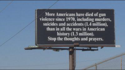 Gun control billboard boulder colorado rally for our rights