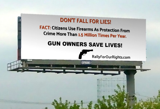 gun rights save lives billboard colorado rally for our rights