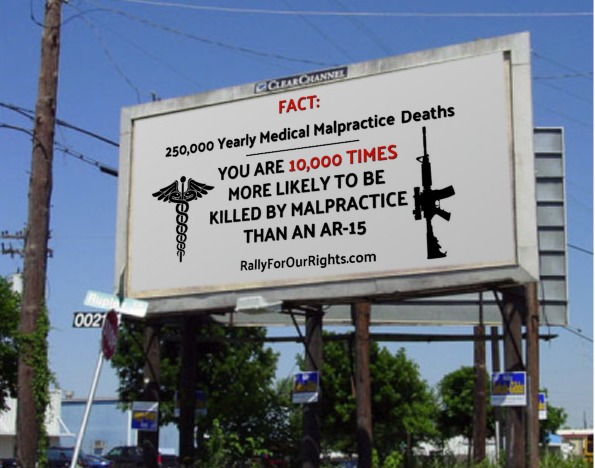 gun rights medical malpractice AR15 billboard colorado rally for our rights