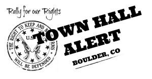 TOWN HALL ALERT - Boulder, CO