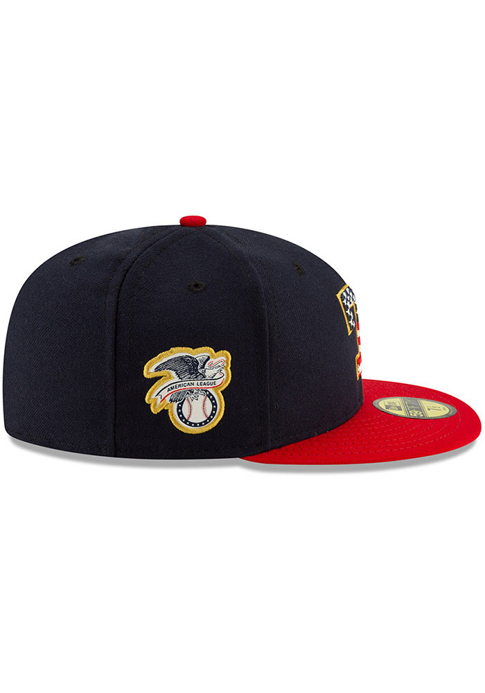 New Era Texas Rangers Mens Red 2019 4th Of July 59fifty Fitted Hat 5909644
