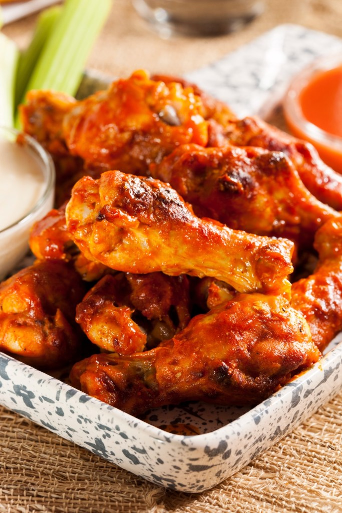 Award-winning wings in a variety of rubs and sauces at RallyPoint in Cary, NC