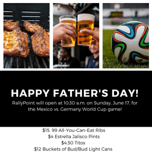 Opening at 10:30 a.m. on Father's Day