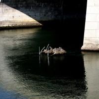 «Lagerstätte» (1992) bei der (Mittleren) Rheinbrücke